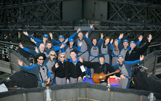 Teams rock Sydney Harbour Bridge