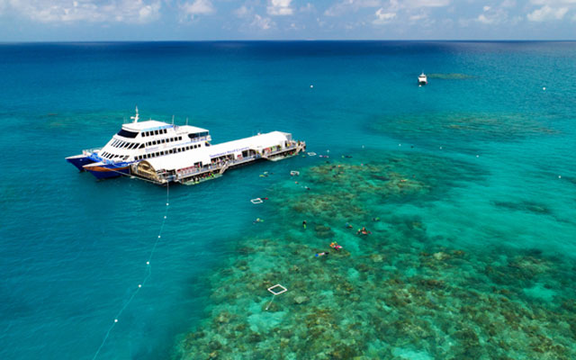 There's now an events venue on the Great Barrier Reef